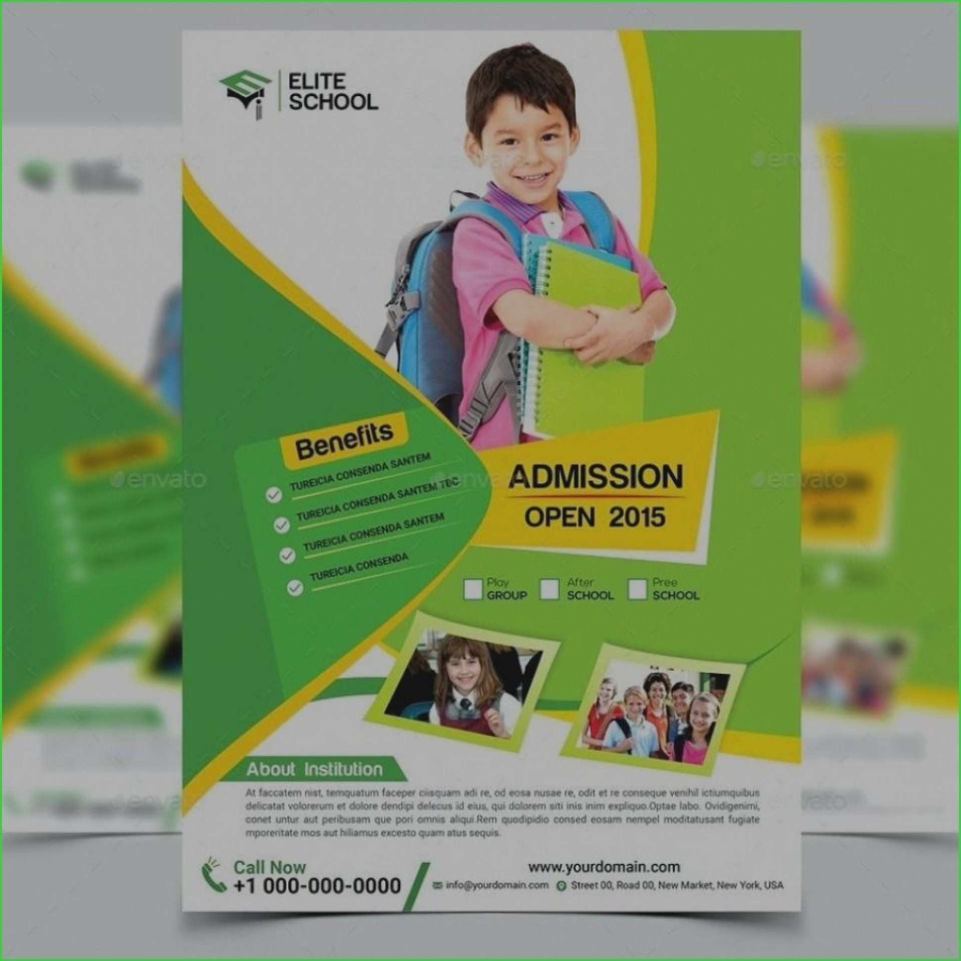 004 Simple Free School Flyer Template Picture  Templates Vacation Bible For Microsoft Word Event1920