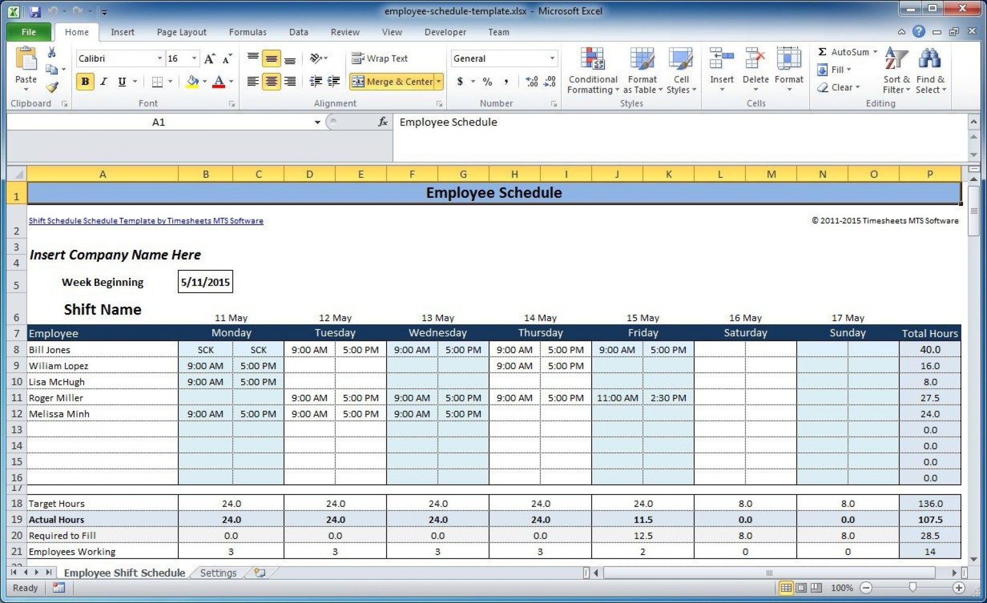 004 Simple Free Work Schedule Template Excel High Definition  Plan Monthly Employee1920