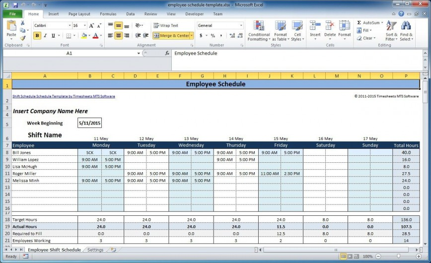 004 Simple Free Work Schedule Template Excel High Definition  Weekly Employee Project Plan