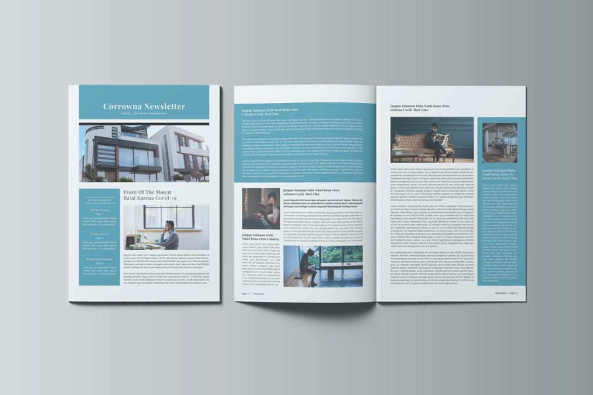 004 Simple Indesign Newsletter Template Free Sample  Cs6 Email Adobe DownloadFull