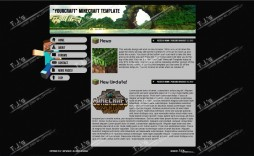 004 Simple Minecraft Website Template Html Free Download Concept