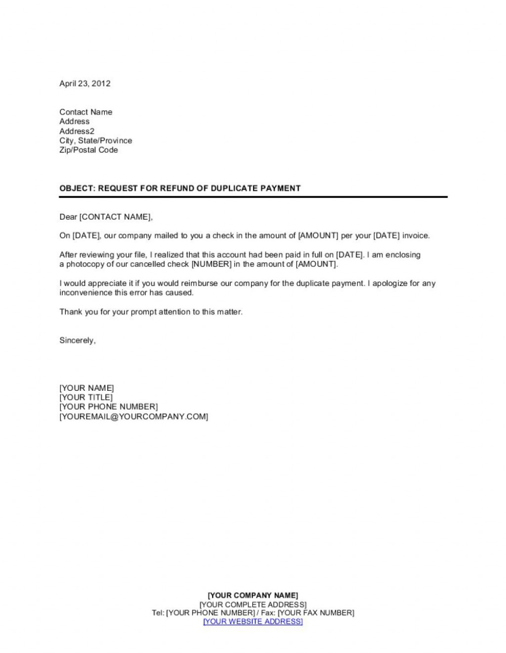 004 Simple No Return Policy Template High Resolution Large