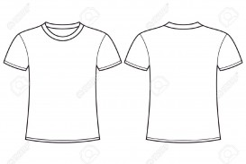 004 Simple Plain T Shirt Template Design  Blank Front And Back