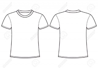 004 Simple Plain T Shirt Template Design  Blank Front And Back320