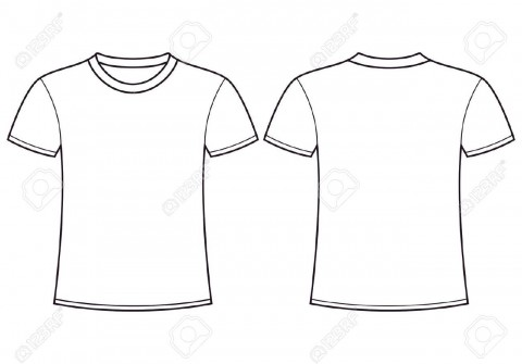 004 Simple Plain T Shirt Template Design  Blank Front And Back480