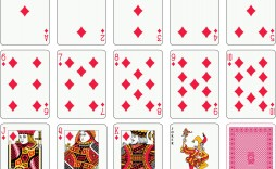 004 Simple Playing Card Template Free Download Photo  Blank