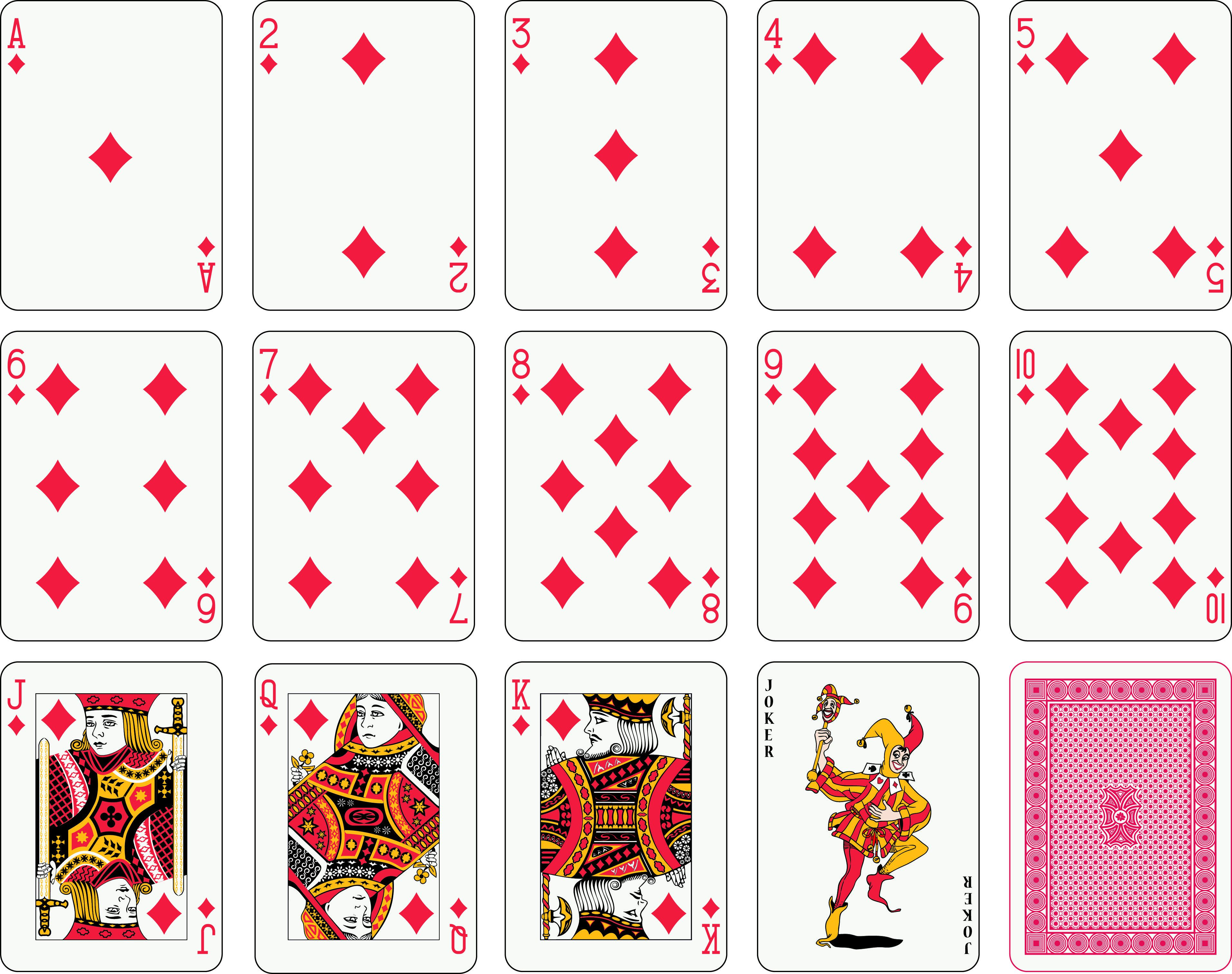 004 Simple Playing Card Template Free Download Photo  BlankFull