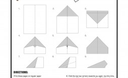 004 Simple Printable Paper Airplane Instruction Image  Instructions Plane