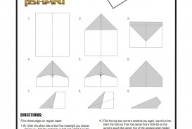 004 Simple Printable Paper Airplane Instruction Image  Plane