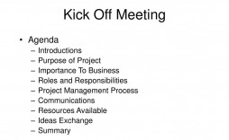 004 Simple Project Kickoff Meeting Agenda Example Sample  Management Template