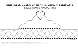 004 Simple Queen Of Heart Crown Printable Highest Clarity  Template