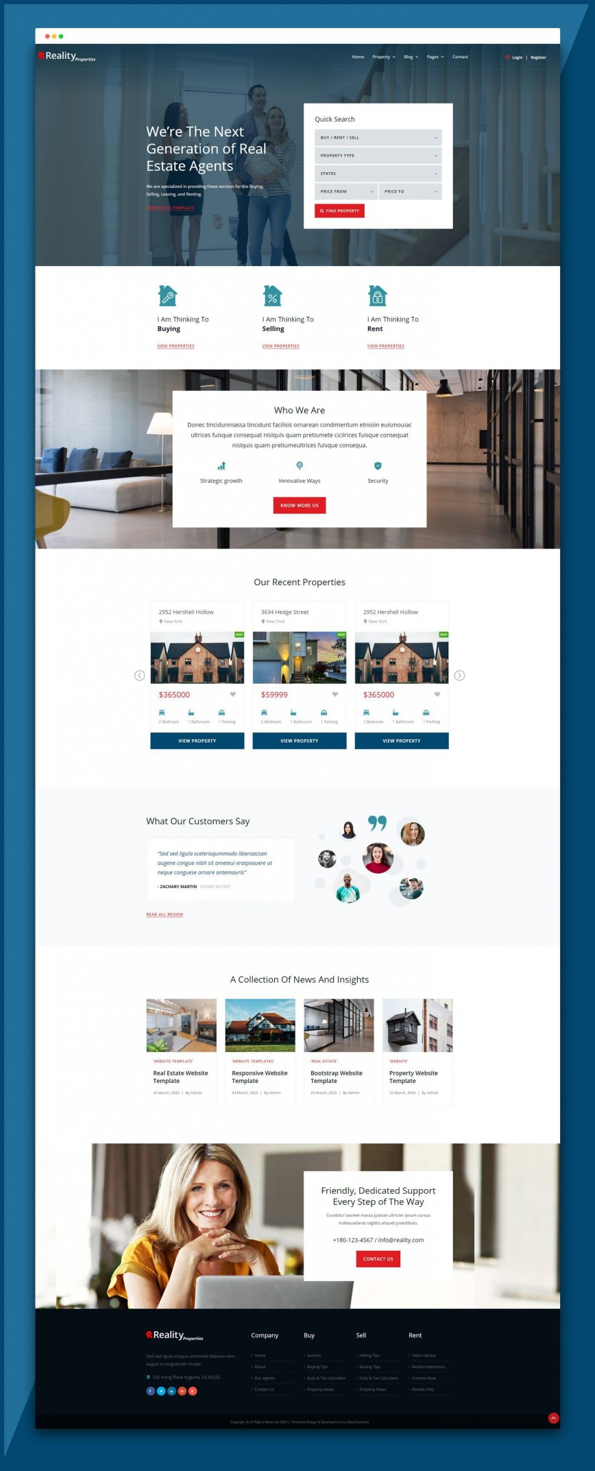 004 Simple Real Estate Website Template Idea  Templates Responsive Free Download Html With Cs Idx Best Wordpres