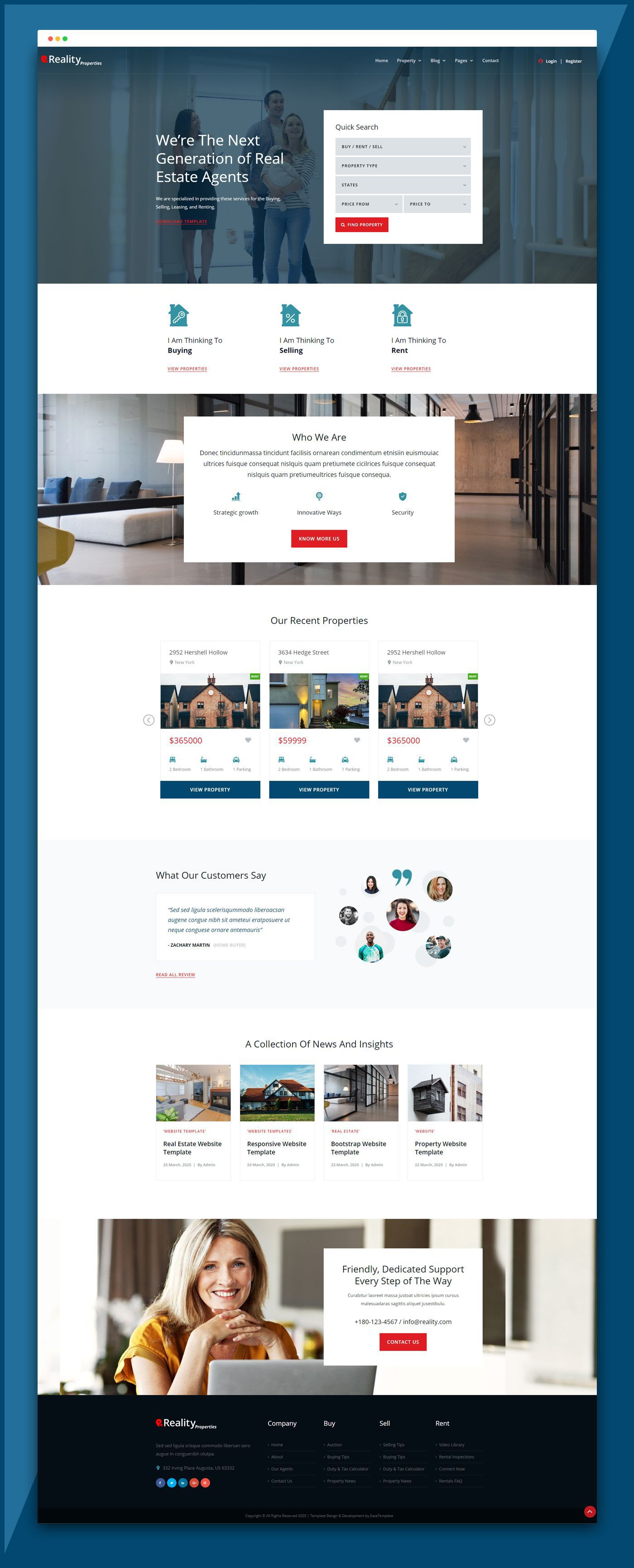 004 Simple Real Estate Website Template Idea  Templates Free Download Bootstrap 4 Listing WordpresFull