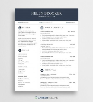 004 Simple Resume Template Download Word Image  Cv Free 2019 Example File320