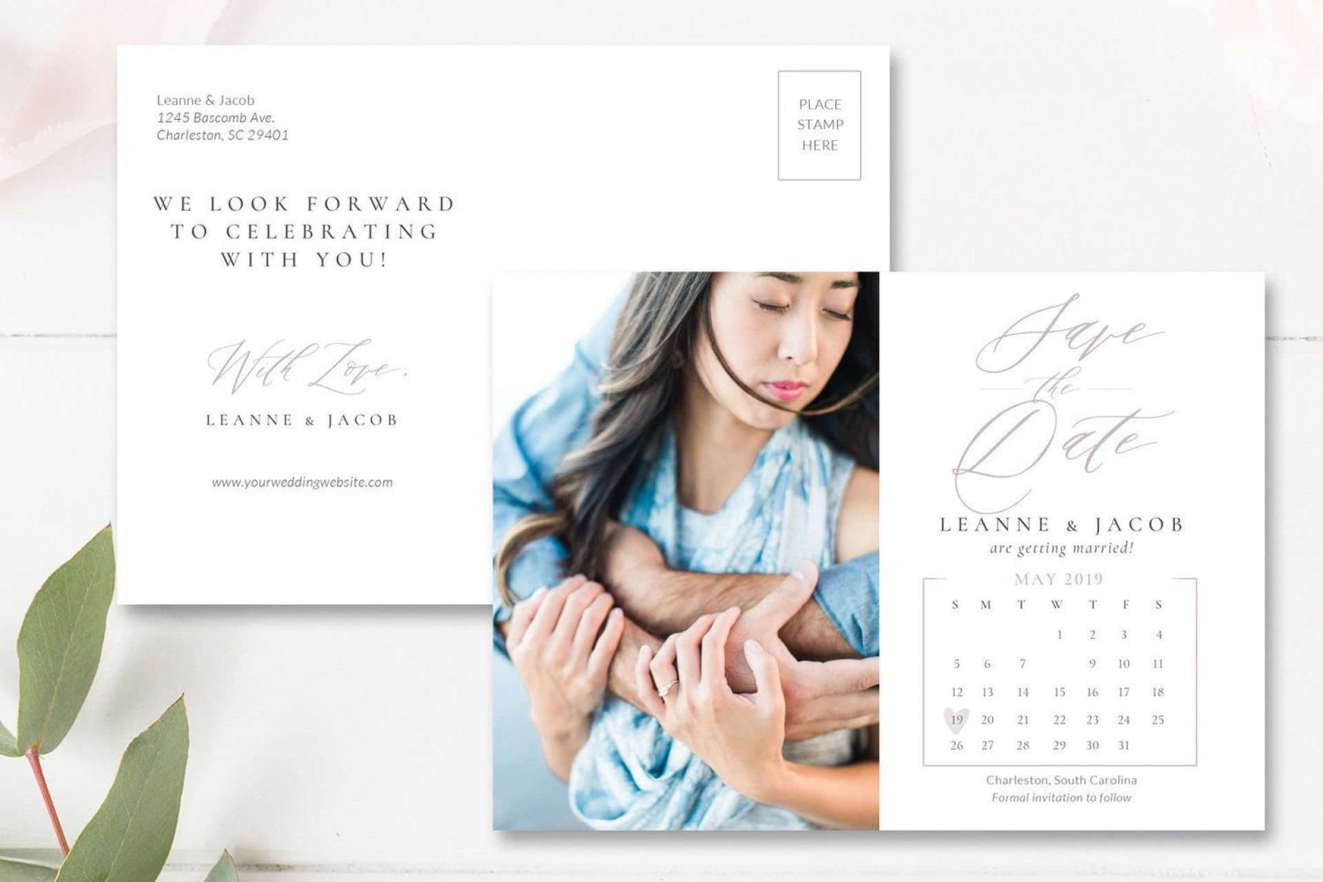004 Simple Save The Date Postcard Template Inspiration  Diy Free Birthday1920
