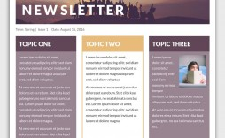 004 Simple School Newsletter Template Free Photo  Elementary For Microsoft Word