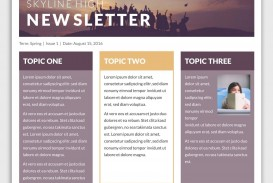 004 Simple School Newsletter Template Free Photo  Word Download Counselor