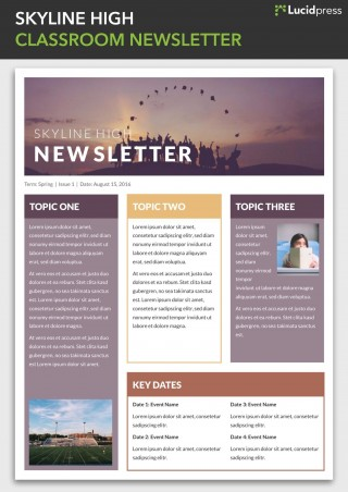 004 Simple School Newsletter Template Free Photo  Word Download Counselor320