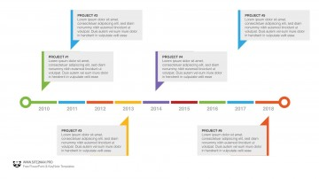 004 Simple Timeline Template Powerpoint Free Download Idea  Project Ppt Infographic360