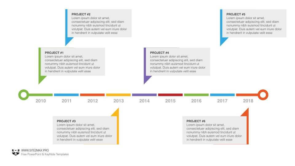 004 Simple Timeline Template Powerpoint Free Download Idea  Project Ppt Infographic960