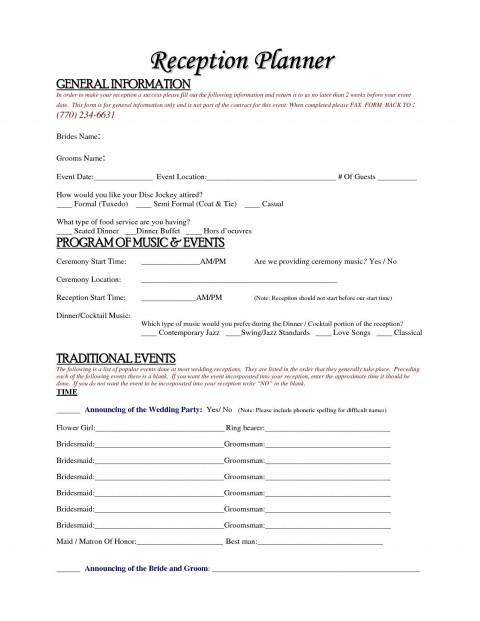 004 Simple Wedding Planner Contract Template Idea  Uk Australia480
