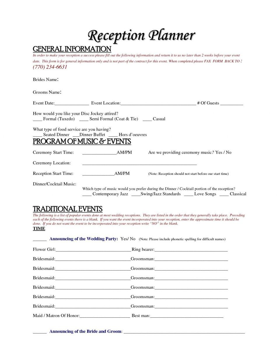 004 Simple Wedding Planner Contract Template Idea  Uk Australia960