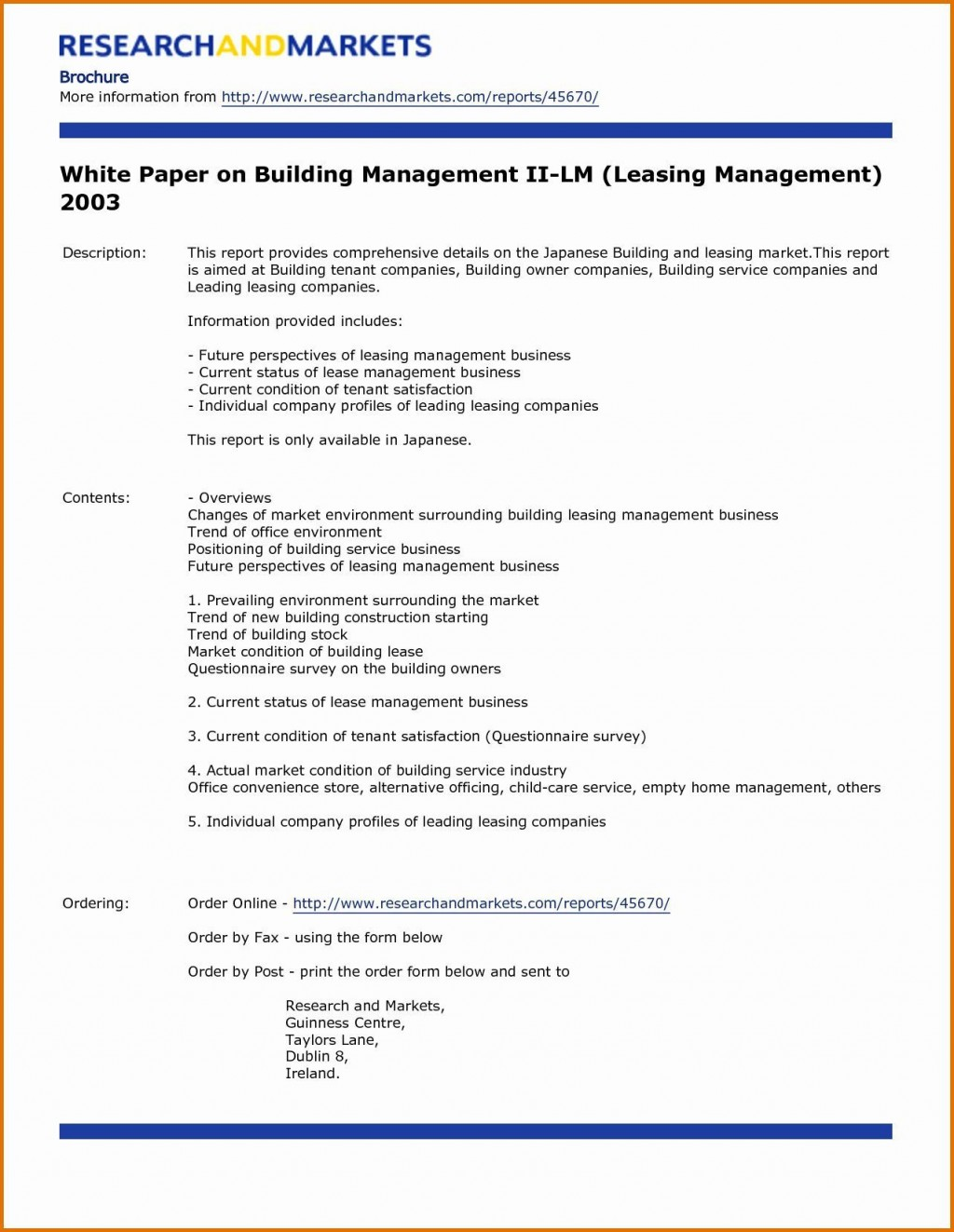 004 Simple White Paper Outline Template Example  FreeLarge