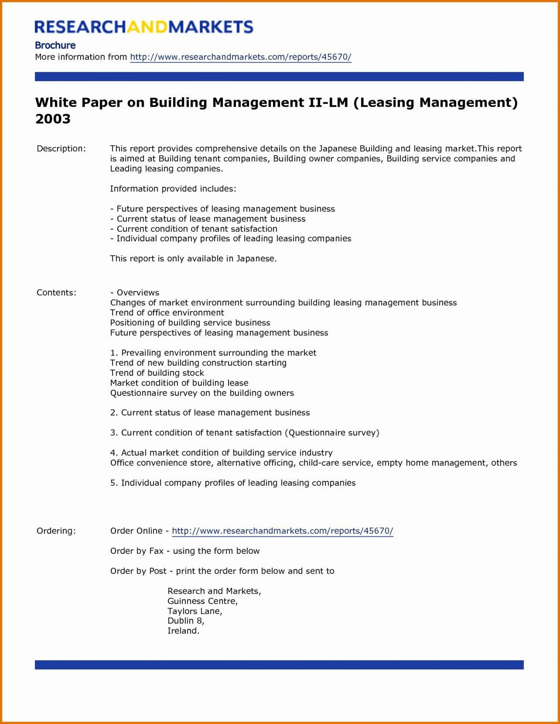 004 Simple White Paper Outline Template Example  Free1920