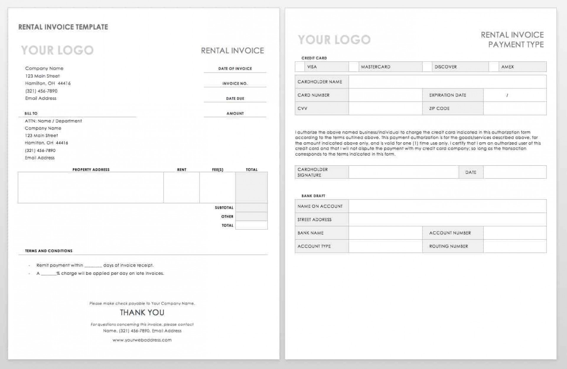004 Simple Word Invoice Template Free High Resolution  M Download1920