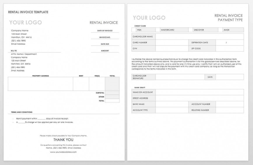 004 Simple Word Invoice Template Free High Resolution  M Download868