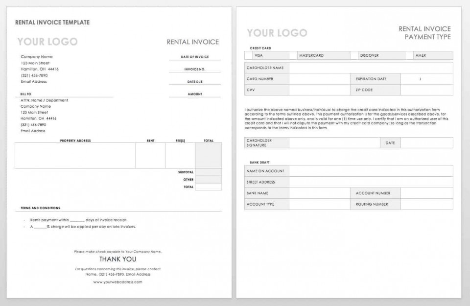 004 Simple Word Invoice Template Free High Resolution  M Download960