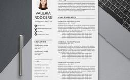 004 Simple Word Resume Template 2020 Image  Microsoft M