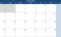 004 Singular Calendar 2020 Template Excel Concept  Monthly Free Uk In Format Download