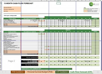 004 Singular Cash Flow Template Excel Free Example  Statement Download Format In360