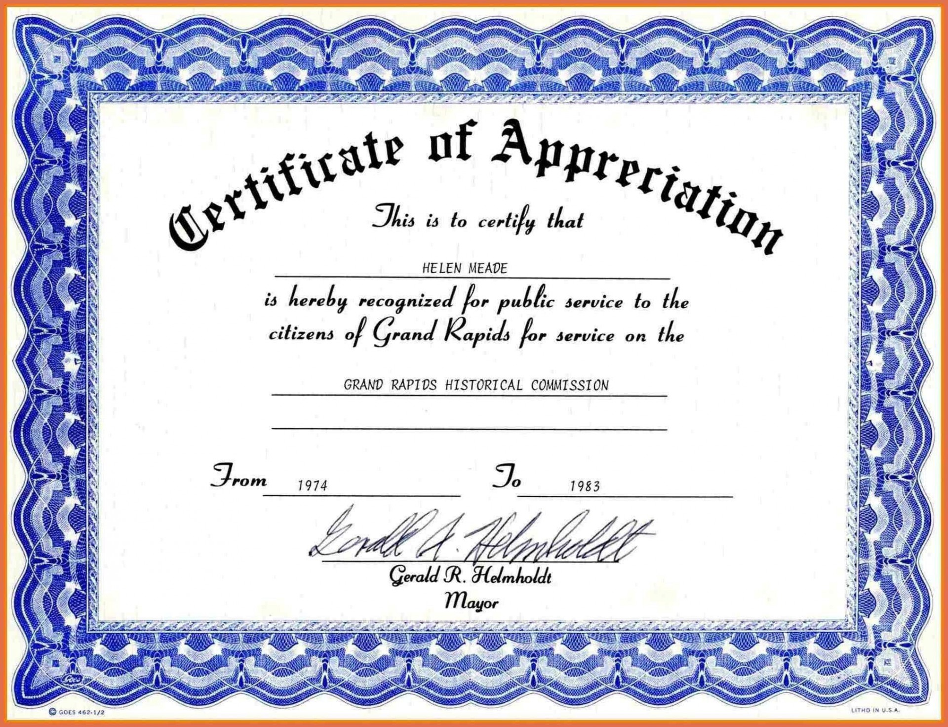 004 Singular Certificate Template For Word High Definition  Award 2007 M1920