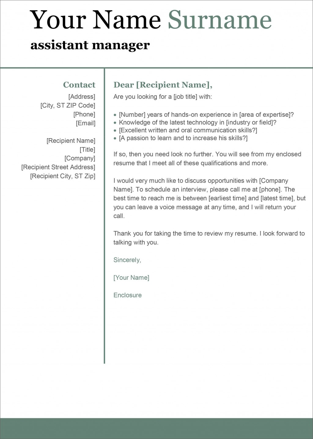 004 Singular Cover Letter Template Microsoft Word Inspiration  2007 FaxLarge