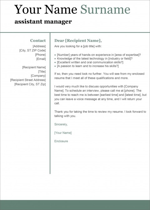 004 Singular Cover Letter Template Microsoft Word Inspiration  2007 Fax480