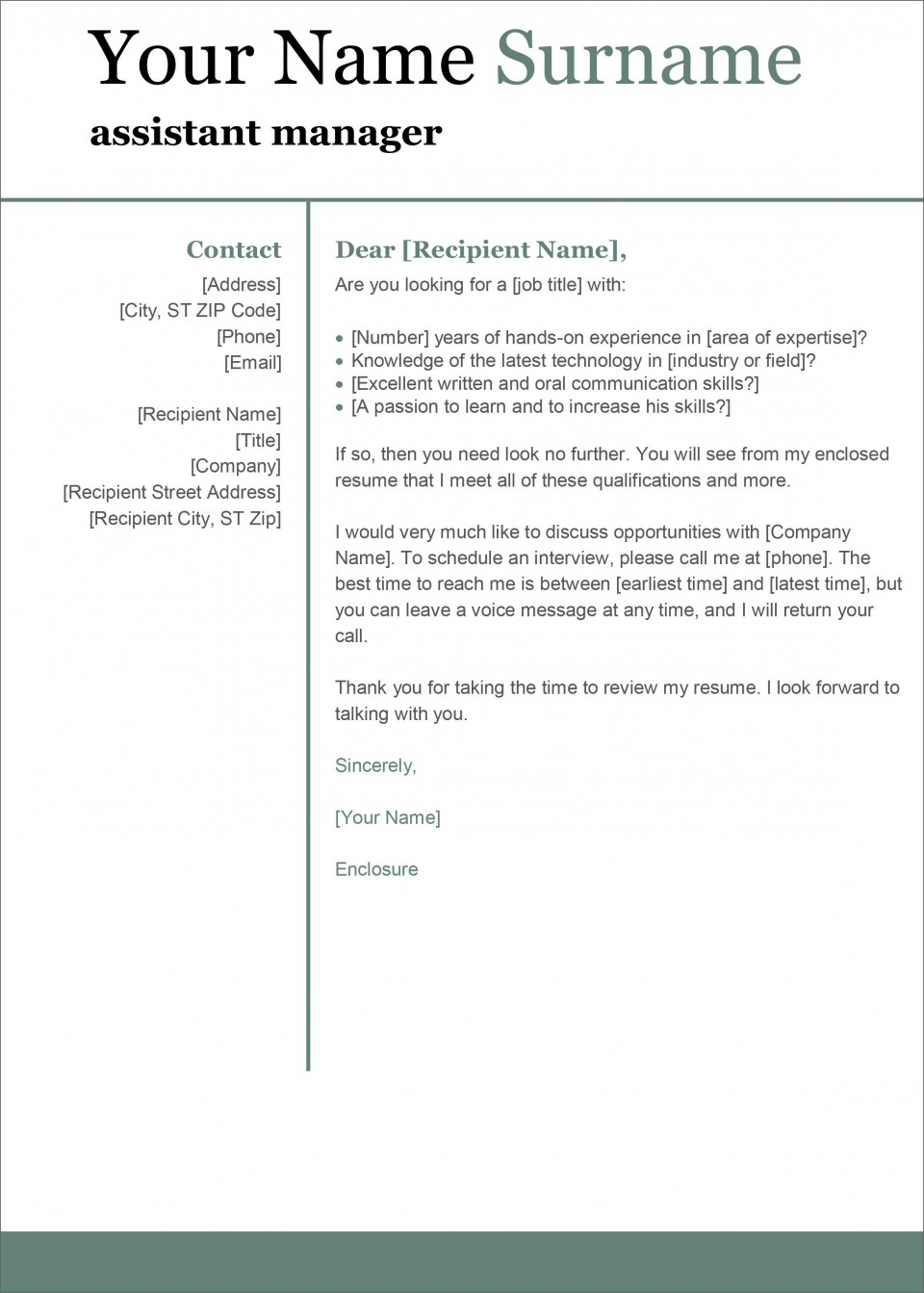 004 Singular Cover Letter Template Microsoft Word Inspiration  2007 Fax960