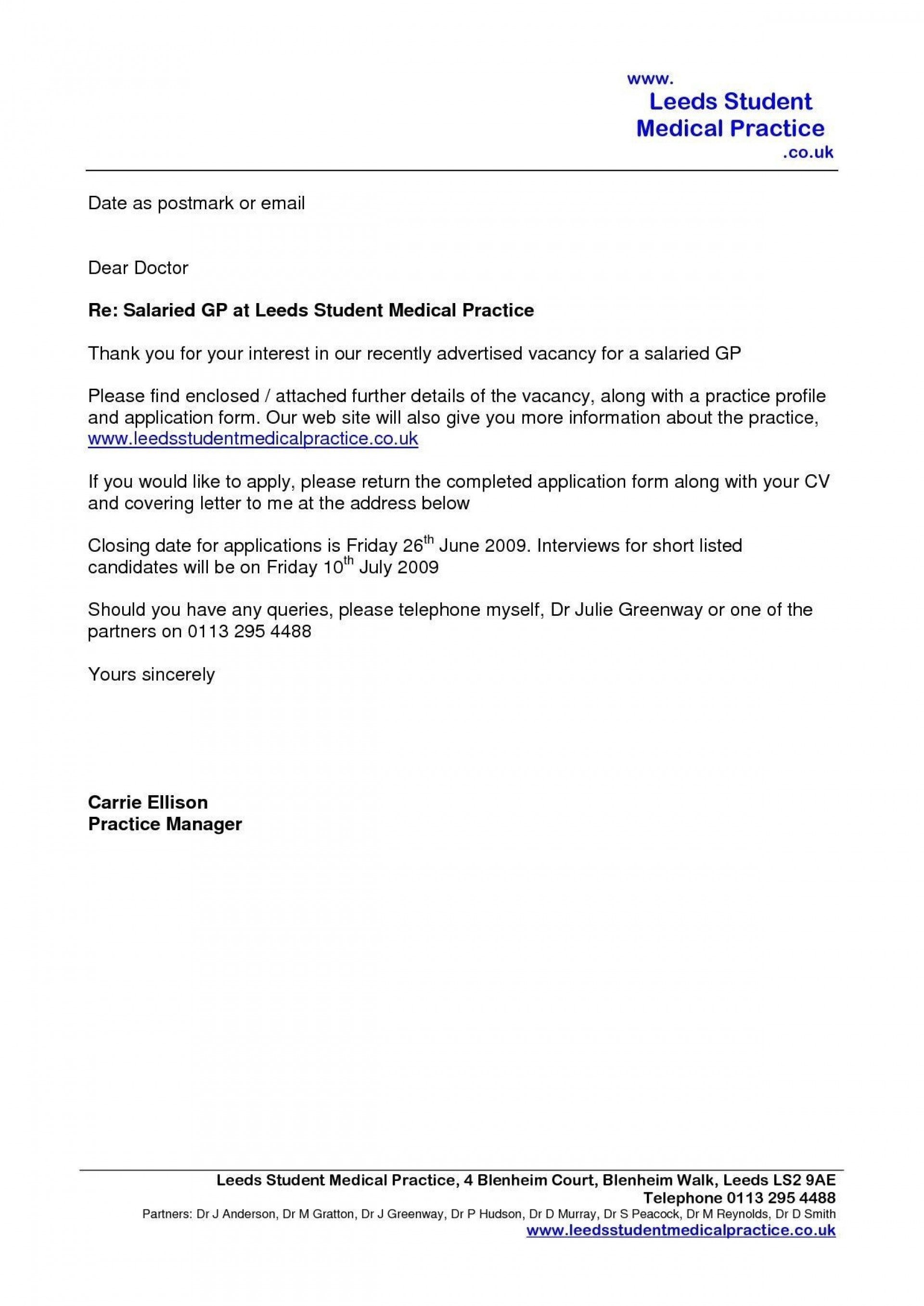 004 Singular Email Cover Letter Example Uk Concept 1920