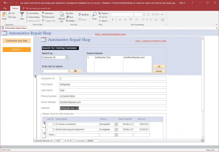 004 Singular Free Acces Database Template Sample  Templates 2013 Download For Inventory