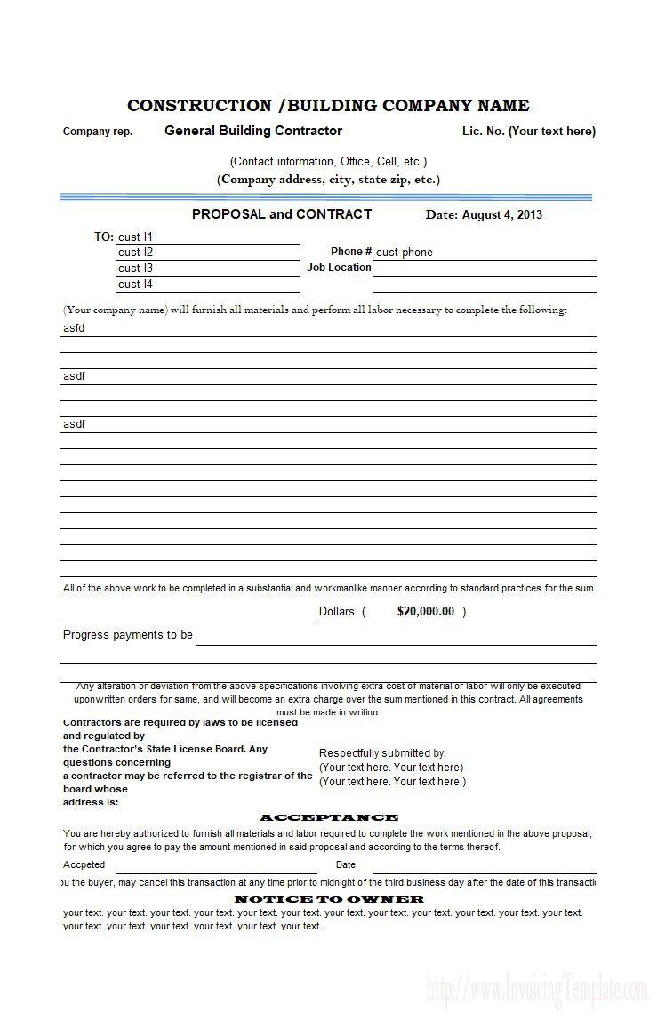 004 Singular Free Bid Proposal Template Highest Clarity  Printable Form Word Construction DownloadFull