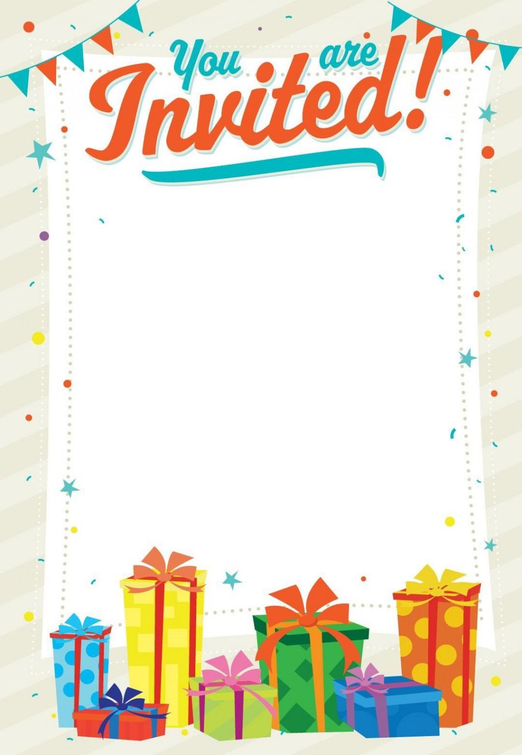 004 Singular Free Birthday Card Invitation Template Printable Picture Large