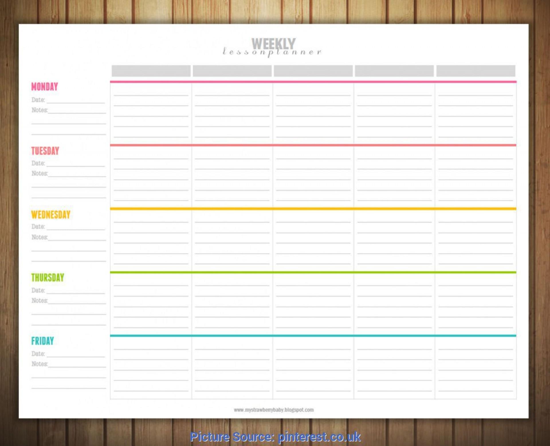 004 Singular Free Editable Weekly Lesson Plan Template Pdf High Resolution  Blank1920