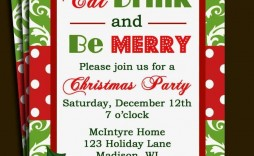 004 Singular Free Holiday Invitation Template Example  Online Party Christma