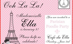 004 Singular Free Pari Birthday Party Invitation Template High Resolution  Templates