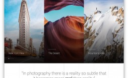 004 Singular Free Photography Website Template Idea  Templates Responsive Bootstrap