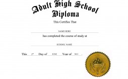 004 Singular Free Printable High School Diploma Template Highest Quality  With Seal