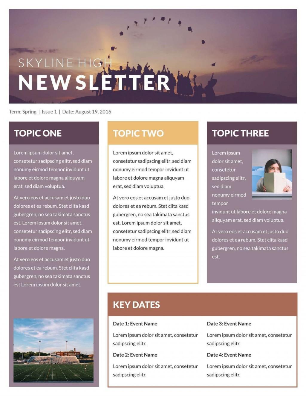 004 Singular Free Printable Newsletter Template High Def  Templates For Church PreschoolLarge