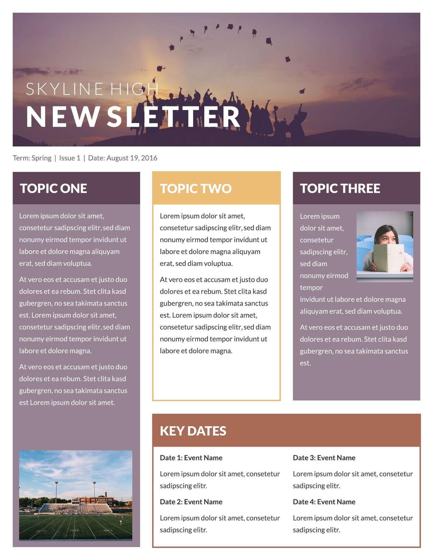004 Singular Free Printable Newsletter Template High Def  Templates For Church PreschoolFull