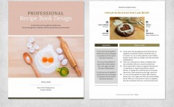 004 Singular Free Recipe Book Template Idea  Editable Cookbook For Microsoft Word Indesign